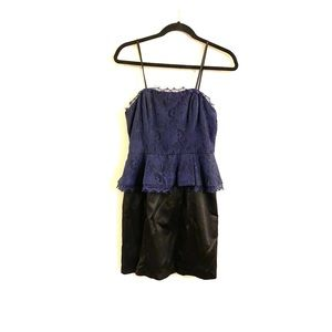 Kate young x target navy & black lace dress